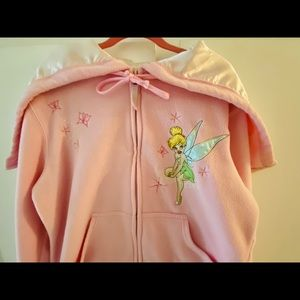 Disney Tinker Bell Embroidery Satin Hoodie